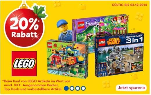 20 Prozent auf LEGO