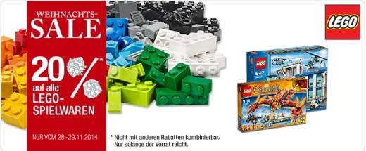 20% auf LEGO bei Galeria
