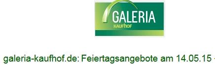 Galeria Kaufhof 10 bzw. 15% auf LEGO